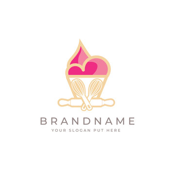 Custom Bakery logo design template vector eps