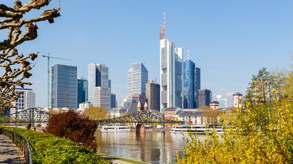 Frankfurt am Main, Ansicht vom Sachsenhäuser Ufer. 17.04.2018.