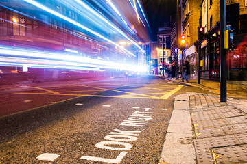 London night traffic. Typical crosswalk Fotomurales