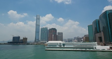 Fotomurales - Hong Kong harbor view