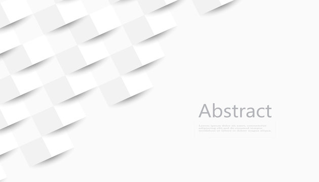 White abstract texture. Vector background 3d paper art style can be used in cover design, book design, poster, cd cover, flyer.