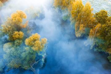 Aluminium Prints Blue jeans Autumn scenery landscape
