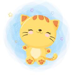 Cute happy cat