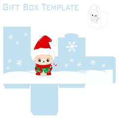 Template for christmas gift box
