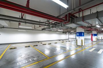 Fototapeta parking lot in airport