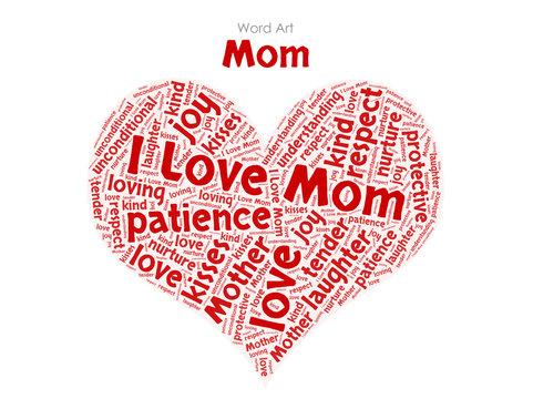 Word Art - I Love Mum