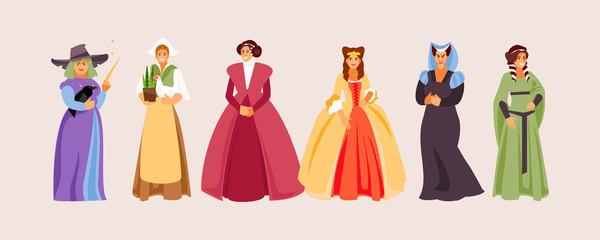 Medieval women vector