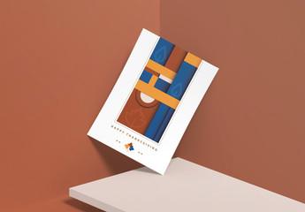 Geometric Thanksgiving Greeting Card Layout