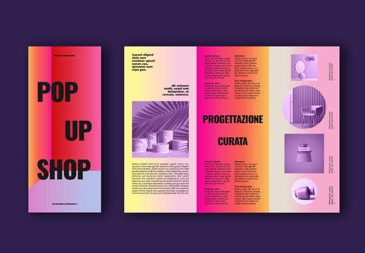 Layout brochure negozio colorato