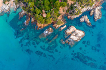 Fototapete - Beautiful sea view from above