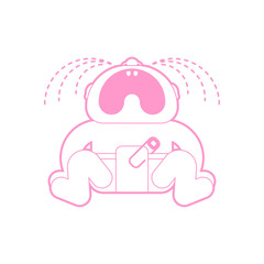 Crying baby icon. Little child cry sign. vector illustration
