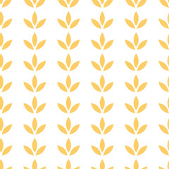 Floral paper seamless pattern with flower ornament in yellow summer colors  illustration