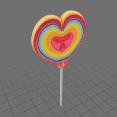 Heart shaped lollipop