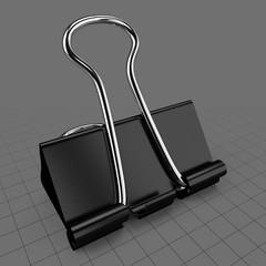 Closed binder clip