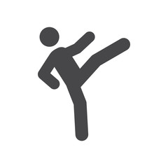Karate vector icon, simple sign for web site and mobile app.