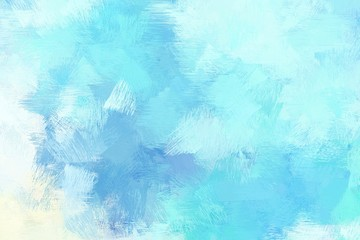 rough brush painted illustration with pale turquoise, baby blue and honeydew color. artwork can be used as texture, graphic element or wallpaper background