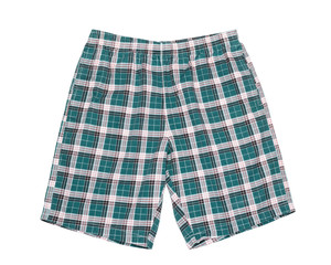 Green shorts. Isolated on white background.