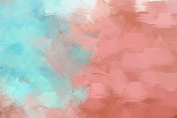 brush drawn illustration with tan, powder blue and indian red color. artwork can be used as texture, graphic element or wallpaper background