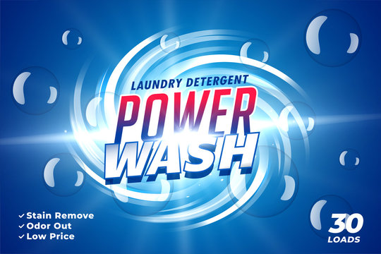 laundry detergent power wash packaging advertising concept design