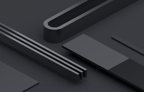 Abstract 3d render, modern minimalistic background design