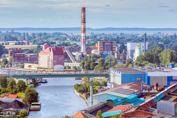 Aluminium Prints Eastern Europe Industrial area in Elblag