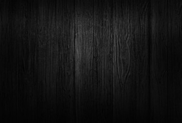 Black wood texture background coming from natural tree. The wooden panel has a beautiful dark pattern that is empty. Wall mural