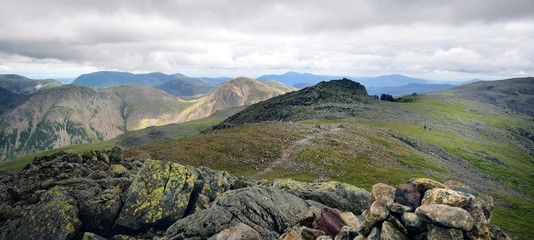 The ridge from Scafell to Scafell Pike