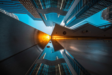 Modern architecture view from low angle
