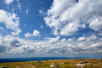 view from Brocken Harz to other hills