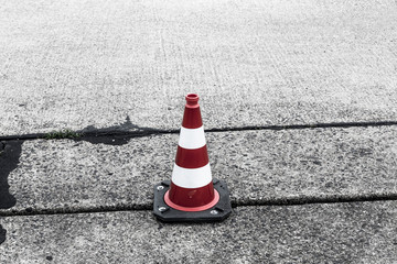 red and white traffic cone shoot