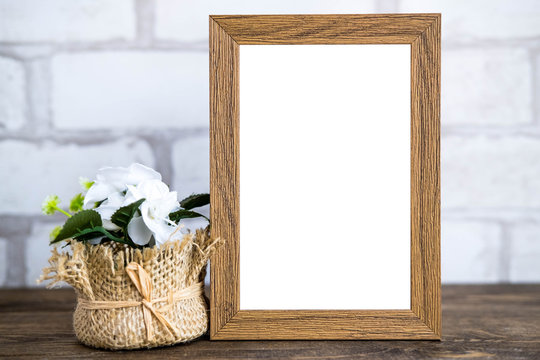Brown 8x10 Frame with plant