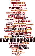 Marching band word cloud