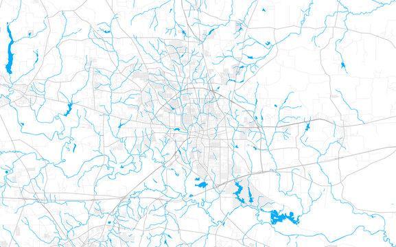 Rich detailed vector map of Longview, Texas, USA