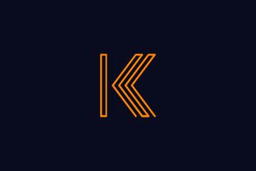 Initial K Letter Logo Design Vector Template. Monogram and Creative Alphabet KK Letters icon Illustration.m and Creative Alphabet A B Letters icon Illustration.