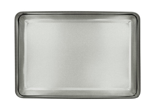 Metal box top view (with clipping path) isolated on white background
