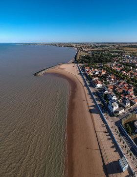 Chatelaillon Plage (Charente Maritime, France) - Vue aérienne de la plage