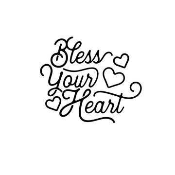 Bless Your Heart - SVG file