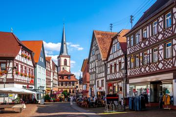 Wall Mural - Altstadt mit Kirche, Lohr am Main, Bayern, Deutschland