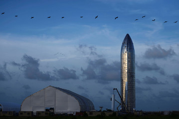 SpaceX's Elon Musk gives an update on the company's Mars rocket Starship in Boca Chica