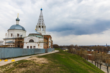 Trinity Cathedral is an Orthodox church in the city of Serpukhov, Moscow Region, Russia. Located in the historic city center on Sobornaya Gora within the territory of the Serpukhov Kremlin