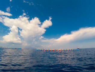 A tuna farm in the Mediterranean Sea