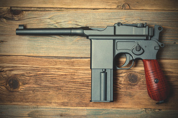Mauser, old German pistol gun