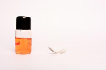 Face cream or bathtub bottle isolated on white background