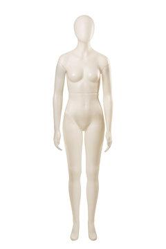 Female mannequin dummy isolated on white