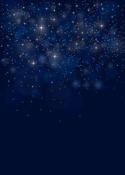 Blue Christmas night sky background