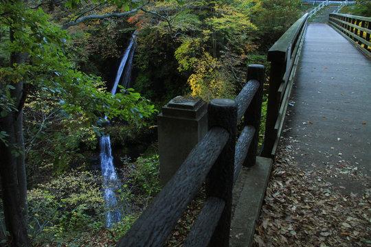 吾妻渓谷・白糸の滝と瀧見橋