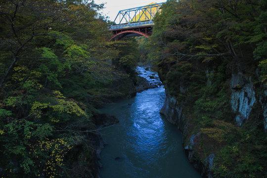 鉄橋と吾妻川