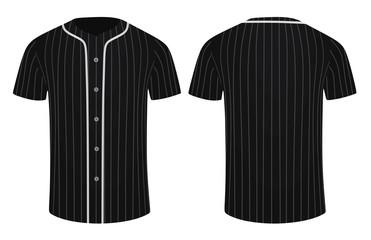 Black baseball shirt. vector illustration