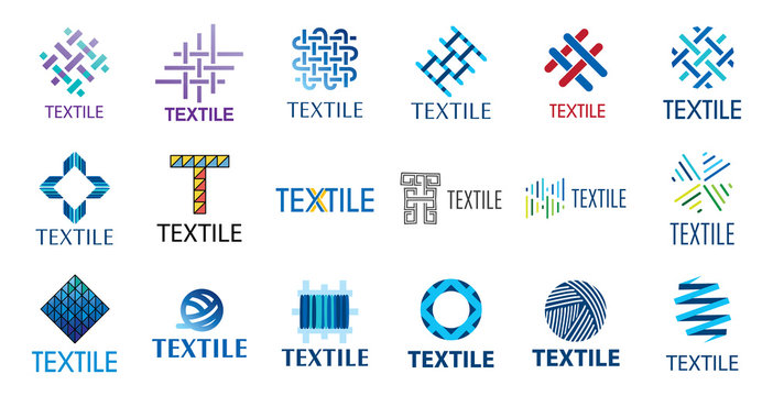 Vector logo of textile fabric and sewing