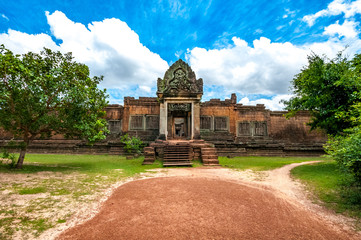 Ancient buddhist khmer temple in Angkor Wat, Cambodia. Banteay Samre Prasat